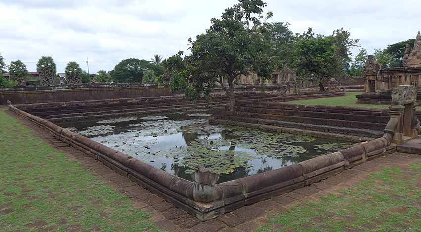 Lotus ponds at Prasat Hin Mueang
